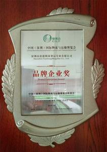 2010 品牌企业奖
